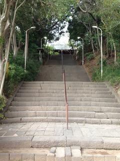 真間山階段