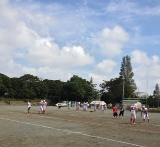 試合前練習
